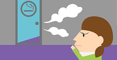 ケース1「タバコの煙が喫煙室から漏れている」
