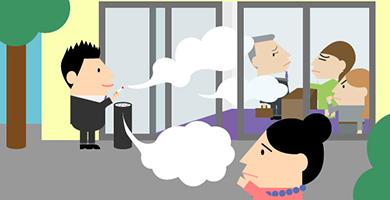 ケース2「外の喫煙所の煙へのクレーム」