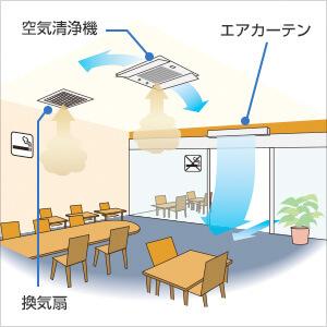 飲食店分煙対策(仕切り+エアカーテン)